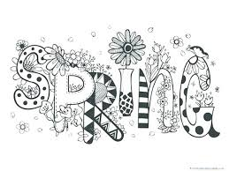 Coloring Pages Kindergarten Coloring Pages Spring Themed 1 Theme