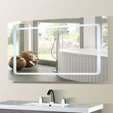 casperson led bordered illuminated with bluetooth speakers bathroom vanity mirror