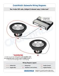 4 ohm sub wiring diagram gauge on 4 wiring diagram schematics Crutchfield Wiring Diagram 4 ohm sub wiring diagram gauge single voice coil wiring diagram also single voice coil wiring crutchfield wiring diagrams for subwoofers