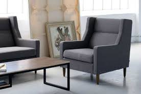 gus carmichael armchair in charcoal grey from globewest