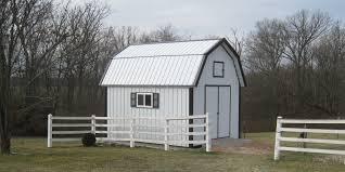 12x16 gambrel barn shed