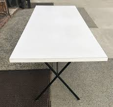 george nelson for herman miller white laminate x legs dining table in good condition for