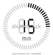 countdown timer 15 minutes digital timer 15 minutes electronic stopwatch stock vector royalty