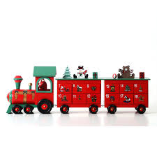 china wooden advent calendar train for decoration with 24 drawers in stock china advent calendar decoration