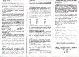phil shauns single channel and vintage r c nostalgia page m32 macgregor single channel radio instructions page 2