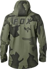 fox racing pit jacket hooded mens full zip