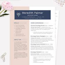 Oncology Nurse Resumes Oncology Nurse Modern Resume Cover Letter References Template