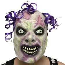 Mask Designs Full Face Coxeer Halloween Party Mask Latex Mask Horrible Zombie Head