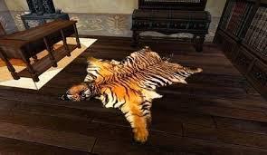 real tiger skin rug second life marketplace 2 prim pic
