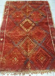 classic red rug x moroccan trellis