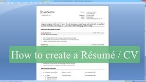 How To Make Resume On Word 2007 Resume Sample