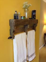 Bathroom Traditional Wooden Hook Bathroom Towel Racks With Green