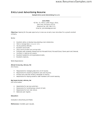 Entry Level Resume Template Free Basic Entry Level Resume Ptctechniques Info