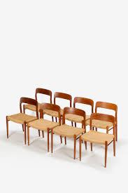 8 niels moeller chairs no 75 teak
