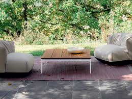 square teak garden side table be easy slatted coffee table by kristalia