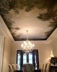 Scenic ceiling mural in Florida