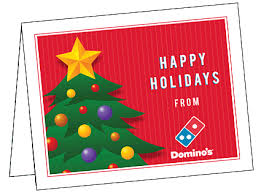 Christmas Notecard Dominos Pizza Local Store Marketing Materials