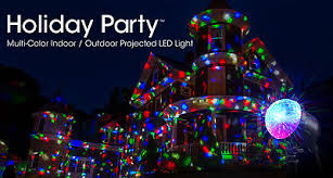 2 of 6 new ion holiday party multi color indoor outdoor led projected christmas light