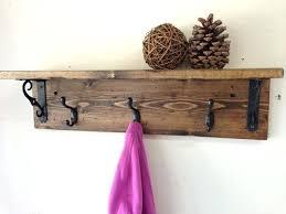 Wooden Wall Coat Racks Diy Coat Rack Shelf With Railroad Spike Hooks Rustic Wood Wall Coat 20