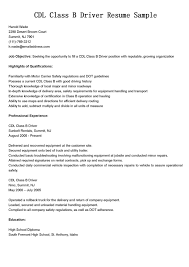 Sample Drivers Resume Resume Samples For Truck Drivers With An