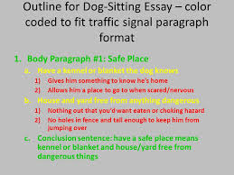 writing your st seventh grade quality essay and beyond ppt  outline for dog sitting essay color coded to fit traffic signal paragraph format