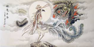 chinese dragon paintings dragon and phoenix