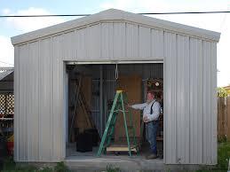 hurricane resistant steel storage shed
