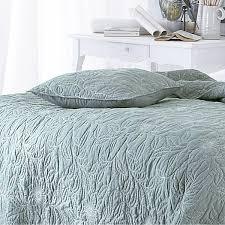 Bedroom: Rivera Slate Blue Embroidered Bedspread Cotton Quilted ... & Interesting Quilted Bedspreads For Modern Bedroom Design Ideas Decoration:  Rivera Slate Blue Embroidered Bedspread Cotton Adamdwight.com