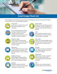 Email Design Checklist A Pre Flight Checklist To Ensure Email Best Practices