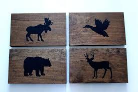 woodland animals nursery rustic forest animal wood wall decor sign woodland animals nursery decor set of