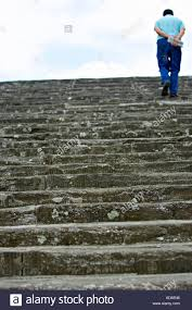 Man walking up long stairs outside hope possibilities opportunity Florence  Italy near the Piazale MichelangeloPiazale Michelange
