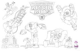 Small Picture Transformers Rescue Bots Coloring Pages Sketch Coloring Page