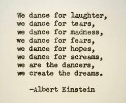 Dance Quotes Amazing ALBERT EINSTEIN Hand Typed Quote Made With Vintage Typewriter Albert