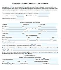 Free North Rental Application Forms For Renting A House Lease ...