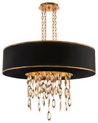 keyes regency black single gold crystal waterfall pendant