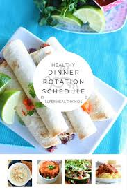Healthy Theme Dinner Rotation Schedule And Free Meal Plan