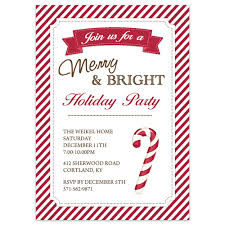 Printable Holiday Party Invitations Christmas Party Invitations Candy Cane Design Printed With