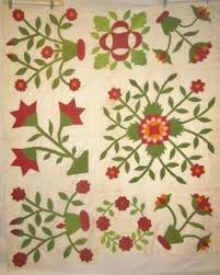 Pieced & Appliqued Quilt, Mid 19th C, Augusta Auctions, November ... & Two Appliqued Quilt Pieces Red Green Calicos C 1880 Floral Designs | eBay,  madhouserags Adamdwight.com