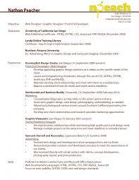 front end web developer resume objective cipanewsletter sample resume resume template for software developer online web