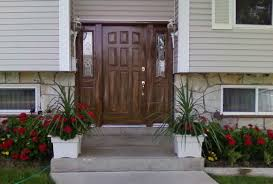 entry doors with side panels. This Exterior Nine-panel Door With Side Panel Has Been Woodgrained To Match The Colors Entry Doors Panels
