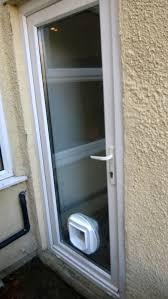 new cat flap installed in door
