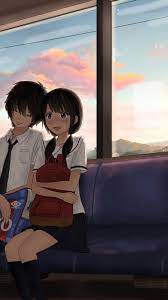 Anime Couple Art HD iPhone Wallpapers ...