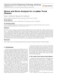 Ladder Frame Chassis Design Calculations Pdf Stress And Strain Analysis For A Ladder Truck Chassis