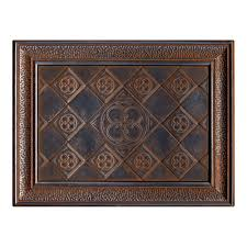 12 X 12 Decorative Tiles EXPO Castle Metals 100 in x 100 in Wrought Iron Metal Clover Mural 24