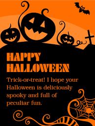 Have A Deliciously Spooky Fun Happy Halloween Card