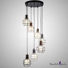 7 light multi light foyer hanging pendant with wire guard takeluckhome com