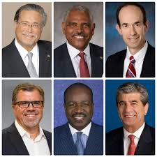 partints in the ceo and presidents round table from upper left clockwise micky arison