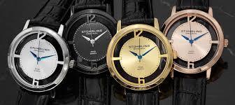 amazon com stuhrling original men s 388g2 set 01 winchester stuhrling original men s winchester cathedral transparent dial strap set watches