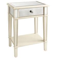 vegas white glass mirrored bedside tables. Hayworth Furniture Collection | Pier 1 Imports Vegas White Glass Mirrored Bedside Tables T