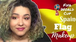 spanish flag inspired makeup tutorial fifa world cup landmakeup